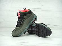 Мужские кроссовки Nike Air Max 95 Sneakerboot Green, найк эйр макс. ТОП Реплика ААА класса., фото 3