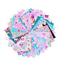 Набор тканей (Ткань) разноцветных для Пэчворка 10x10 см 30 шт