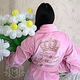 Жіночий халат з іменною вишивкою, фото 2
