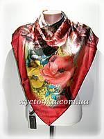 Атласный платок Авангард, красный