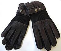Перчатки мужские замшевые коричневые