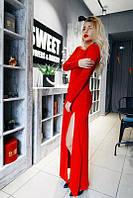 Длинное платье с разрезом+открытая спина.