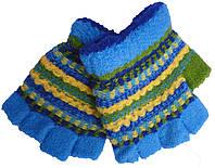 Перчатки-варежки детские на мальчика А-33 полоса (зима)