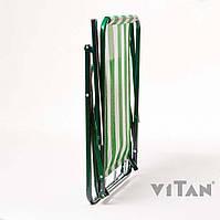 Стул «Дачный» бело-зеленый
