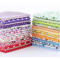 Набор тканей (Ткань) разноцветных для Пэчворка 12x10 см 30 шт