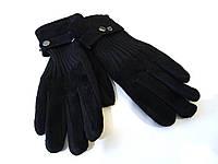 Перчатки мужские замшевые черные