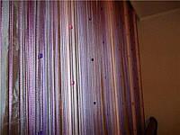 Шторы нитяные кисея радуга со стеклярусом (126), фото 1