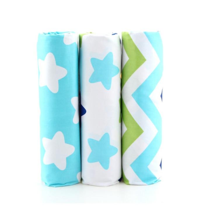 Набор тканей (Ткань) разноцветных для Пэчворка 50x40 см 3 шт
