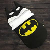 """Зимний конверт для новорожденного """"Бэтмен"""""""