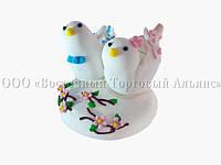 Фигурки из мастики  - Свадебные птички - Ø8 см, h5 см