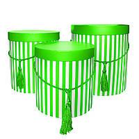 Подарочные коробки зеленые, набор из 3 шт