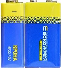 Батарейка сольова Крона 6F 22.S1 (1 в шрінці) (ціна за шринку/1 шт)  АНАЛОГИ