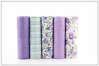 Набор тканей (Ткань) разноцветных для Пэчворка 50x40 см 5 шт