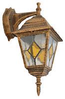 Світильник садово-парковий 672S античне золото/вітражне скло 220В/60Вт (бра знизу) АсКО