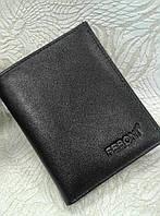 Портмоне мужской черный тонкий без монетницы (Турция)