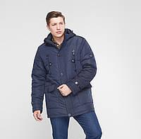"Теплая зимняя мужская куртка ""Victor"" синий, фото 1"