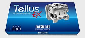 Металлическая самолигирующая брекет-система Natural, Tellus EX, Roth 022