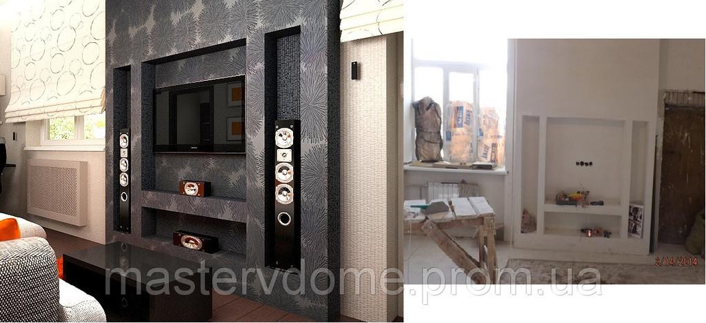 Комплексный ремонт квартиры по проекту и визуализации