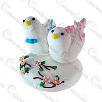 Фигурка из мастики - Свадебные птицы h5 см