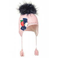 Элегантная шерстяная шапочка-ушанка для девочки Элла, фото 1