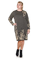 Вязаное платье большого размера Madrid черный/беж (48-58) 52-54