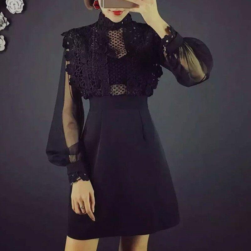 Платье женское  с гипюровым верхом
