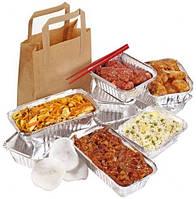 Большой выбор одноразовых пищевых контейнеров (ланч-боксов) и форм из плотной алюминиевой фольги