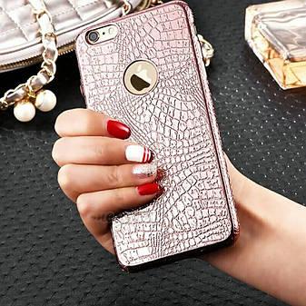 Силіконовий чохол TPU для Apple iPhone 6 / 6S Pink, фото 2
