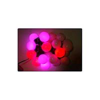 Новогодняя гирлянда шарики диаметр 50мм 20 LED цветов