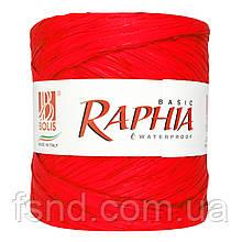 Рафия #2 водоотталкивающая, красная (200 м) Италия