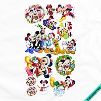 Аппликация, наклейка на ткань Набор Микки Новый Год