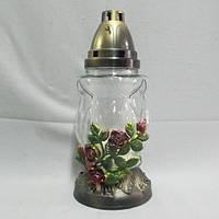 Подставка роза лампада стеклянная 36 часов