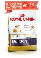 Корм Royal Canin Bulldog Junior, для щенков Бульдога до 12 месяцев, 3 кг + ПОДАРОК 60 грн на мобильный