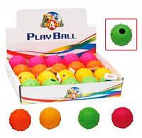 Игрушка для собак CaniAMici мяч с шипами и звуком резиновый, Д-5 см