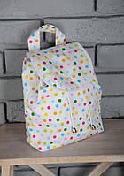"""Летний маленький рюкзак """"Горошек"""" для детей из текстиля (р. 25х25х8 см) ТМ MagBaby 101206"""