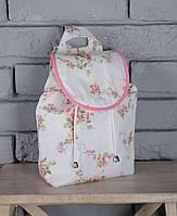 """Летний маленький рюкзак """"Цветы"""" для девочки из текстиля ТМ MagBaby 101207"""