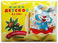 Детское мыло туалетное Череда, 4*100 г, Невская Косметика