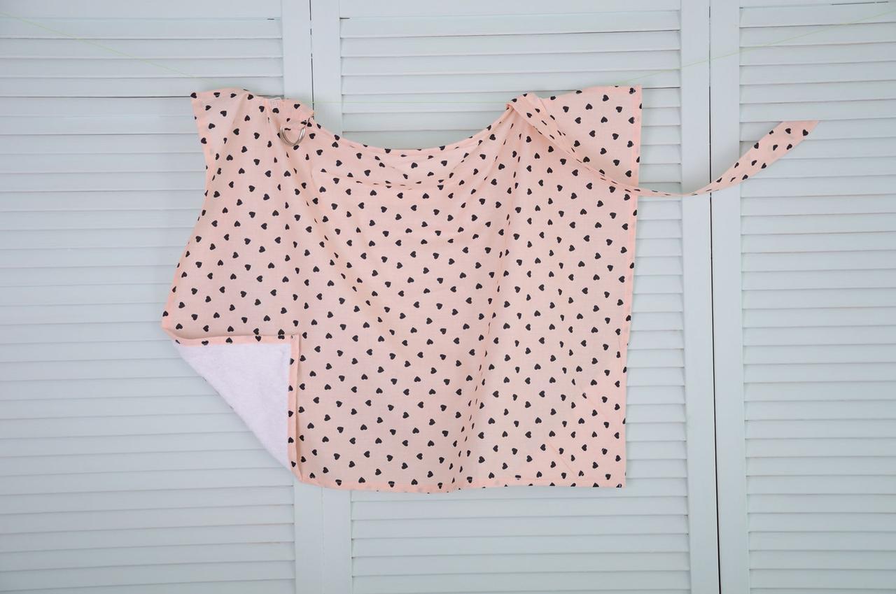 Накидка для кормления новорожденного ребенка Сердечки ТМ MagBaby 130705 - ibaby.kiev.ua - интернет-магазин товаров для детей в Киеве