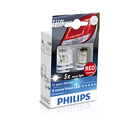 Сигнальные LED лампы Philips X-tremeVision LED 12898RX2 P21W