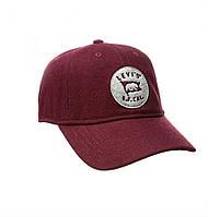 Мужская бейсболка Levi's® бордового цвета Baseball Сap оригинал