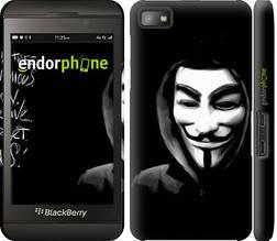 """Чехол на Blackberry Z10 Анонимус """"832c-392-851"""""""