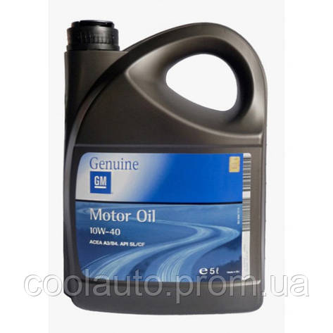 Моторное масло GM Motor Oil Semi Synthetic 10W-40 5л, фото 2