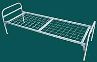 (КМ-1) Кровать металлическая 1яр. 1900х700 с э/св.сеткой 100х100 в порошке