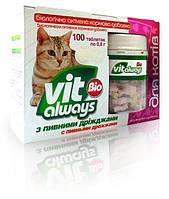 Vitalways Bio (Виталвейс Био) для котов банка с пивными дрожжами рыбки, 100 табл., O.L.KAR. (Олкар)