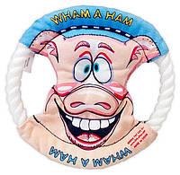 Фрисби из шнура с картинкой свинки 6-13, Д-16 см
