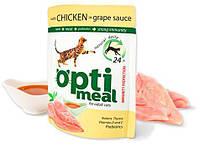 Optimeal (Оптимил) пауч корм для котов с курицей в виноградном соусе, 85 г (архив)