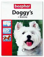 Beaphar (Беафар) Витаминизированное лакомство Doggy's + Biotinе с биотином для собак, 75 табл.