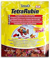 Tetra Rubin (Тетра Рубин) основной корм для рыб для усиления естественной окраски (хлопья), 12 г