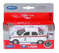 """Машина модель 1:38 LADA 110""""МЧС"""" """"Welly"""""""