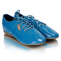 Туфли женские лак (на шнуровке) XY-62